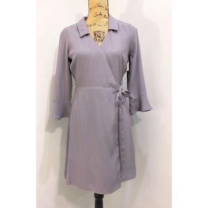 NWT Lulus Gray Wrap Dress